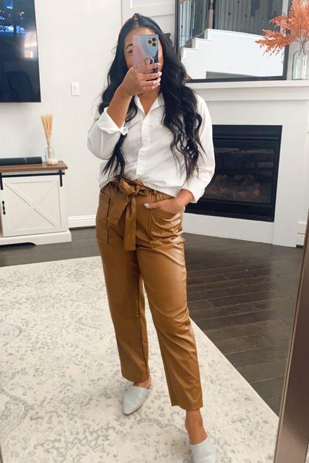 Target fall outfits #fauxleatherpants