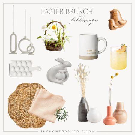 EASTER brunch tablescape ideas! How to decorate for Easter! #Easter #Brunch #Spring  #LTKSeasonal #LTKhome #LTKSpringSale