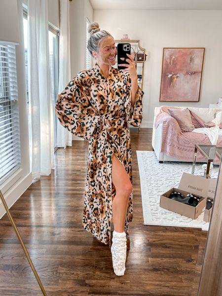 Buddylove Robe  15% off code: JANELLEPAIGE or JANELLE Fuzzy socks - Amazon    #LTKunder100 #LTKstyletip #LTKunder50