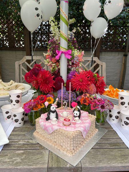 2nd birthday Pandas Tea party theme.    #LTKeurope #LTKkids #LTKfamily