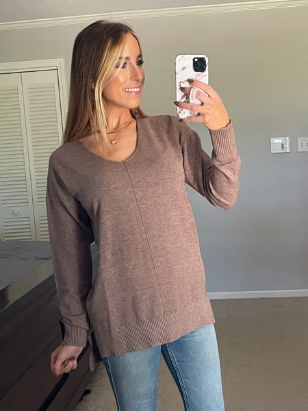 Amazon Sweater  Wearing a small! Comes in other colors  #amazon #founditonamazon #amazonfinds #sweater #sweaterweather #fall #fallstyle #affordablestyle   #LTKSeasonal #LTKunder50 #LTKstyletip