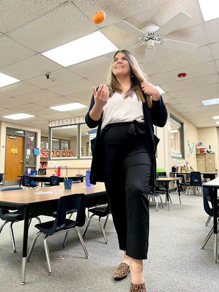 The perfect teacher outfit #Midsize #CurvyTeacher #TeacherOutfit #FallTeacherOutfit #AmazonStyle #workpants   #LTKSeasonal #LTKcurves #LTKstyletip