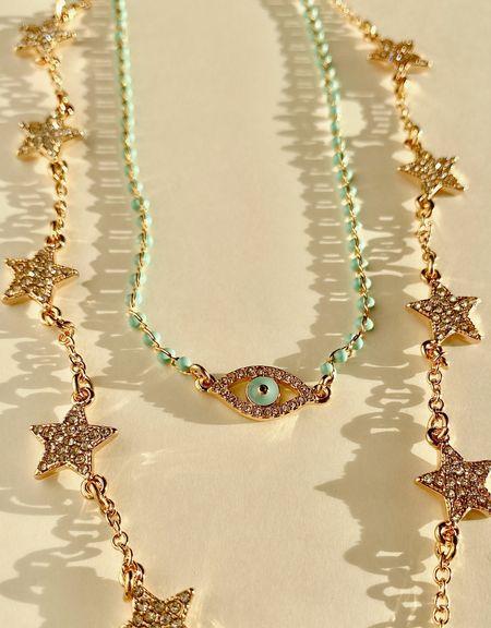 Don't sleep on J. Crew jewelry! Love this pave star necklace and evil eye choker   #LTKunder50 #LTKunder100 #LTKstyletip