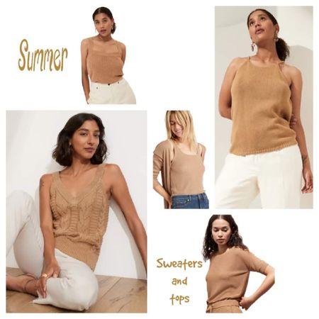 Summer tops, tanks and sweaters. All 40% OFF right now!   #liketkit #LTKsalealert #LTKstyletip   @liketoknow.it   http://liketk.it/3hClt