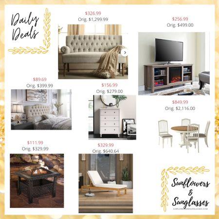 Wayfair sale - home decor, couch, tv stand, fireplace, headboard, dresser, kitchen table, fire pit, chaise lounge chair  #LTKsalealert #LTKhome
