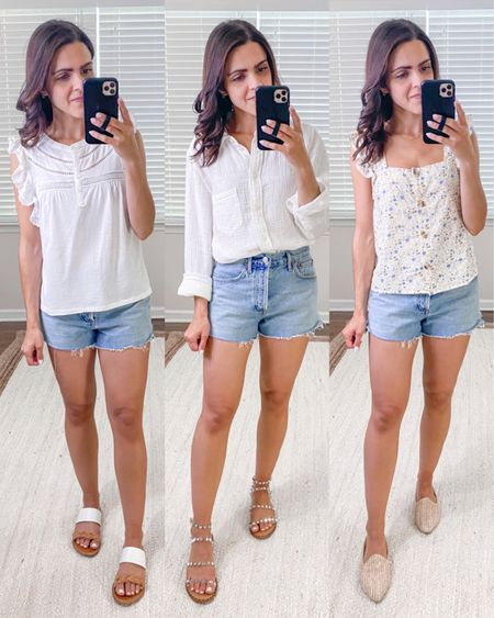 12x12 style challenge : 12 items styled 12 different ways — more on thesarahstories.com // denim shorts outfits, Spring outfit, Summer style ideas http://liketk.it/3hGOh   #liketkit @liketoknow.it #LTKstyletip