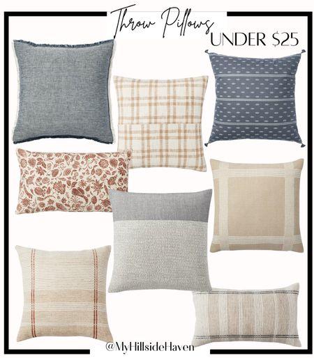 Affordable throw pillows. Target pillows. Studio McGee, pillow combinations   #LTKhome #LTKSeasonal #LTKunder50