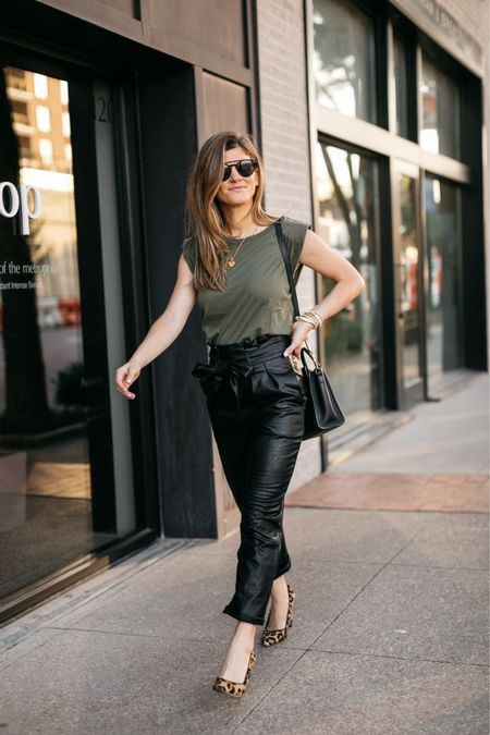 Can't stop wearing these leather pants! Wearing size xs