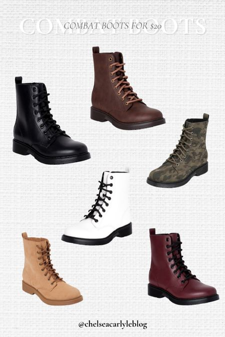 Fall boots under $20! Combat boots season is coming back around - snag a pair in 6 colors for only $20.   #LTKbacktoschool #LTKunder50 #LTKshoecrush