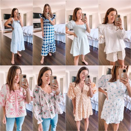 Shopbop dress and happy clothes try on! I would say most items fit true to size - see @lizadams IG stories for more details (saved to highlight) http://liketk.it/3hfb5 #liketkit @liketoknow.it #shopbop #summerdress