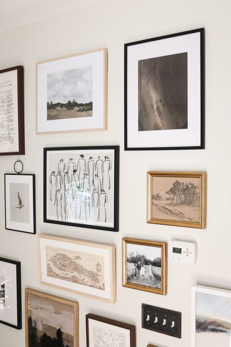 Vintage gallery wall, abstract art, vintage art, printable art, inexpensive art  #LTKunder50 #LTKhome