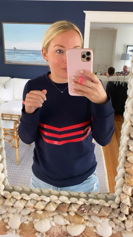 Sail to Sable sweatshirt! 60% off with code LABORDAY. Size down one size for this fit, or go with your usual size for a more oversized look!❣️  #LTKsalealert #LTKbacktoschool