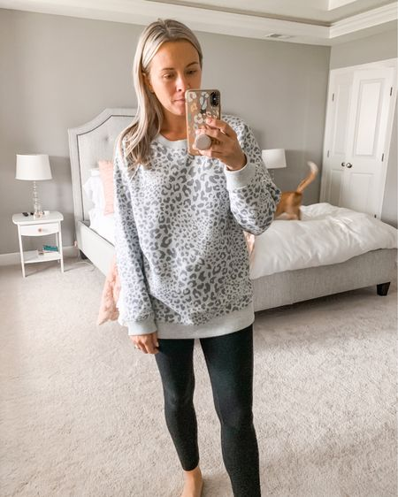 Couldn't pass up this oversized crew neck sweatshirt - so soft and comfortable for at home lounge wear http://liketk.it/2ZHyQ #liketkit @liketoknow.it #StayHomeWithLTK #LTKunder50 #LTKsalealert