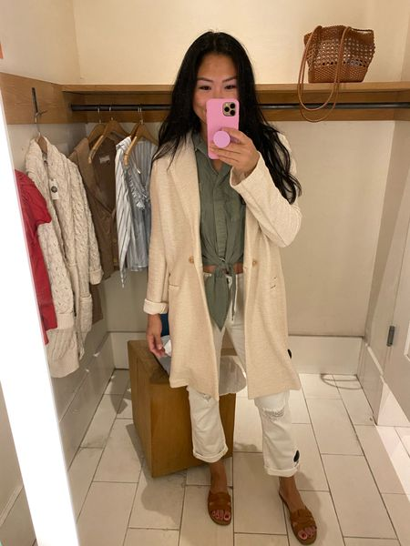 Anthropologie try-on: a great thin sweater jacket for Fall.  #LTKstyletip