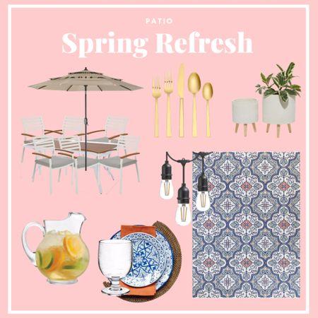 Spring patio refresh with Home Depot!   #LTKSpringSale #LTKSeasonal #LTKhome