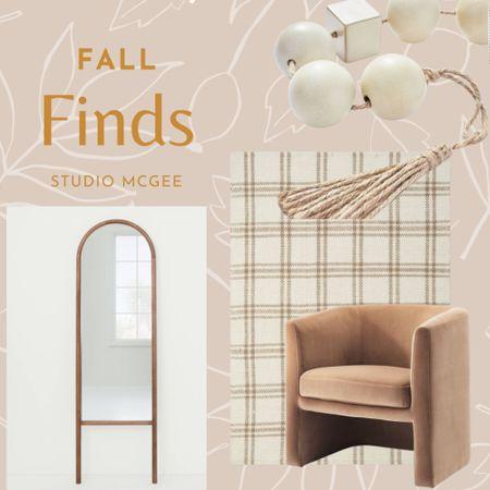 Fall home decor, fall target home decor, velvet chair, arch mirror, Bead garland   #LTKSeasonal #LTKhome