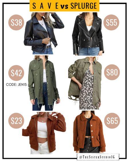 NSale Dupe Options. Jackets Code JEN15 for 15% OFF  Nordstrom Anniversary Sale Fall fashion. Moto jacket.  Leather jacket.    http://liketk.it/3jfSA @liketoknow.it #liketkit   #LTKstyletip #LTKsalealert