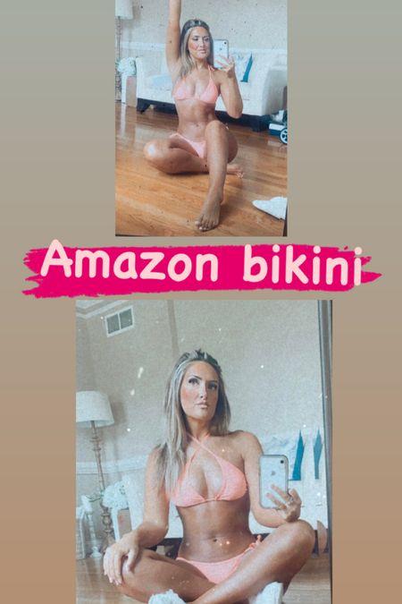 Amazon swimwear! Bikini! Super affordable! Comes on SOOOO many colors   #LTKswim #LTKfit #LTKSeasonal