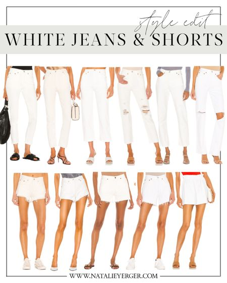 White jean and shorts for summer 🤍 A few affordable and a few splurge options!   #LTKstyletip #LTKSeasonal #LTKunder100