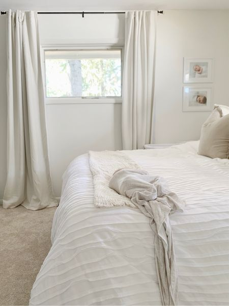 Bedroom, neutral bedding   #LTKhome
