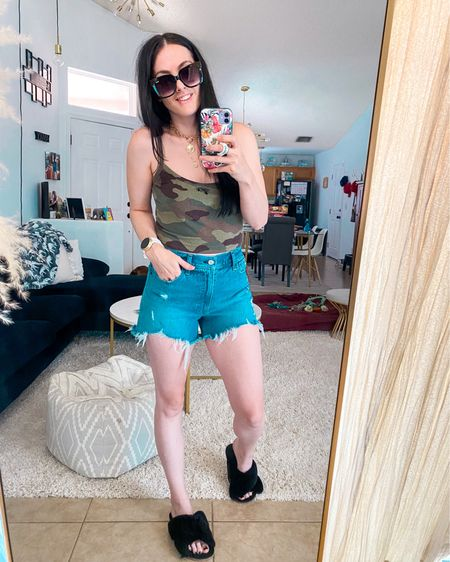 http://liketk.it/3jCWR #liketkit @liketoknow.it #LTKsalealert #LTKshoecrush #LTKunder50  Cute casual outfit for your Tuesday ✨ Abercrombie denim shorts are so comfortable  Size 27 for reference.  Sizing reference: 5'3, 28waist/34hip size 5  Linked a similar top from Amazon   Added my Michael Kors Access watch for those that were interested. Pairs great with iPhone11  Linked a white used one off eBay $79.99  & brand New off Amazon has other colors. $175