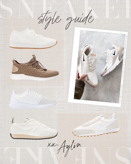 Sneaker style guide! #stylinbyaylin, athletic shoe, sneaker, shoes, running shoe   #LTKunder100 #LTKunder50 #LTKshoecrush
