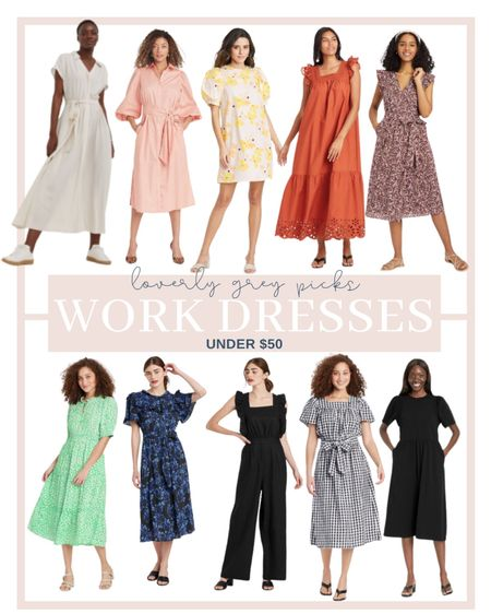Rounding up the best work wear dresses under $50 for summer!   #LTKunder50 #LTKworkwear #LTKstyletip