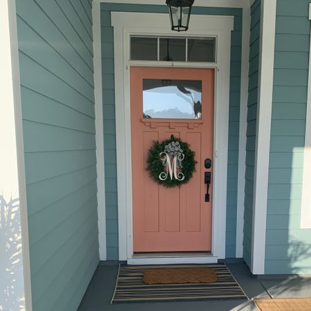 Front door decor, welcome mat, front door wreath http://liketk.it/3csRq #liketkit @liketoknow.it