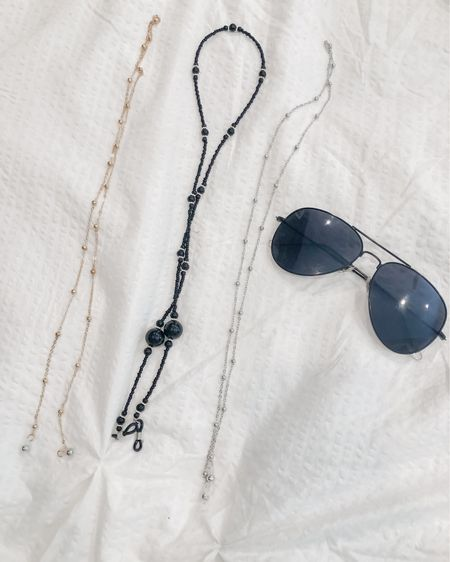 The trendiest accessory there is right now, and I am 100% here for it! These three just arrived for me today and I am pumped about no more hair tangles with nose pieces and glasses falling off my head. These eyeglass chains are the answer to all of my summer eyewear problems!   http://liketk.it/2SNvT #liketkit @liketoknow.it