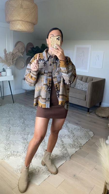 Fall jackets, coats Western inspired  Mini dress Chelsea boots Platform boots   #LTKsalealert #LTKSeasonal #LTKstyletip