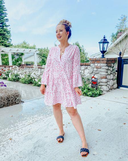 Amazon dress under $30 and runs TTS, I got my normal size medium  Amazon shoes for $30 run TTS and I ordered my normal size 8   Amazon find, Amazon dress for summer, Amazon sandals, amazon Jewelry, pink dress, cheetah dress http://liketk.it/3e3A5 #liketkit @liketoknow.it #LTKunder100 #LTKunder50 #LTKstyletip #ltkspring #ltksummer #sandals #amazon #amazonfashion #amazonfind
