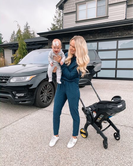 Matching in outdoor voices with my mini!  Perfect gift to buy a cozy lover in your life!! Wearing mediums but I'd size down in the pants! http://liketk.it/2GS3A @liketoknow.it #liketkit #LTKfit