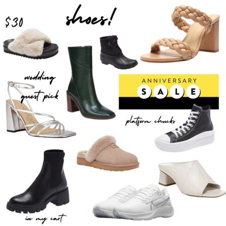 Nordstrom Anniversary Sale SHOES! Shoes under $100. Shoes under $200. Booties, sneakers, slippers and more. #nsale   #LTKsalealert #LTKshoecrush #LTKunder100