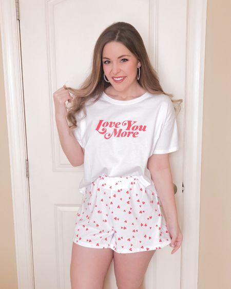 Valentine's Day pajamas ❤️💕🤍 http://liketk.it/37Ok8 #liketkit @liketoknow.it #LTKVDay #StayHomeWithLTK #LTKunder50 heart pajamas, Valentine pajamas, Valentine pjs, Valentine's Day gifts