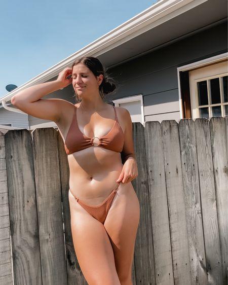 Cheeky ribbed bikini gold loop chain top @liketoknow.it #liketkit http://liketk.it/3jBnj #LTKswim #LTKunder50 #LTKfit
