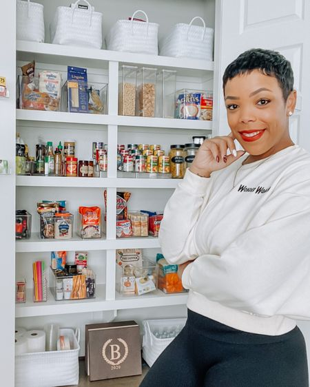 My pantry is officially complete!!! (For now). I'm sure I'll make changes and additions later because I'm always wanting something more.  I'm a little obsessed with how it came out!!! Click the link in my bio to shop a few items I used via @liketoknow.it !! http://liketk.it/2Xq54 #liketkit