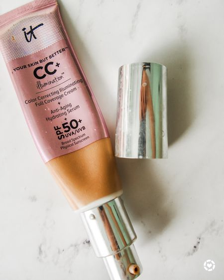 """Searching for the perfect product for the """"no makeup"""" look? The IT Cosmetics CC+ Cream with SPF 50+ is a multitasking makeup and skincare product. It hydrates, softens, and smooths the skin. Also, it improves the appearance of wrinkles and pores. From now until 1/30, you get a free travel size Your Skin But Better Setting Spray + Hydrating Mist with the purchase of any IT Cosmetics CC+ Cream with SPF 50+. Get your free gift from Ulta now!  #LTKbeauty #LTKSeasonal #LTKunder50"""