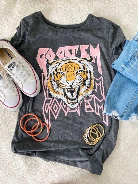 Go get 'em Tiger. Love this sassy printed tee (also fun bc Corey's school mascot is a tiger ✊🏼). I ordered a medium. This gem is only $15, too!   #LTKsalealert #LTKstyletip #LTKunder50
