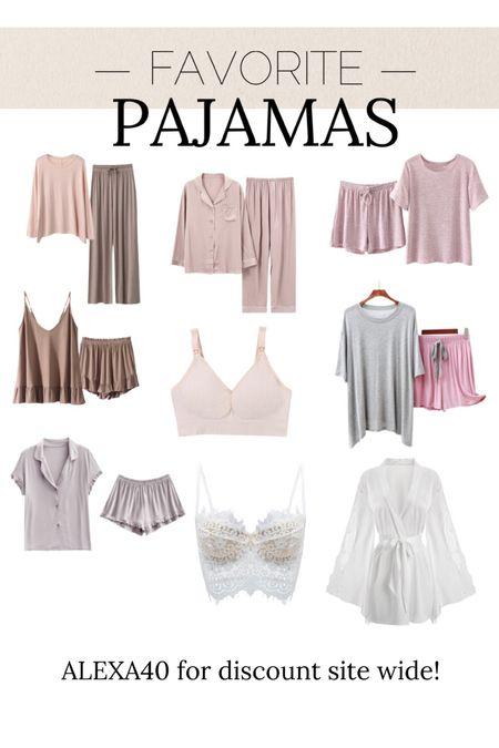 Pajamas // ALEXA40 for discount //   #LTKunder50 #LTKstyletip #LTKunder100