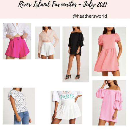 River Island Favourites -July 2021   #lkit #riverisland #shorts #dresses   #LTKstyletip #LTKunder100 #LTKunder50