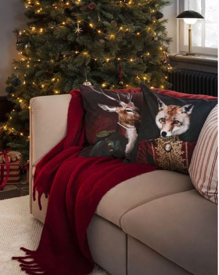 H&M Home new Christmas Home Decor Collection😍😍  - animal printed cushions, throw pillows and blanket, Christmas home decorations, Christmas ornaments, Nutcracker ornaments, Christmas decor  http://liketk.it/30ekY #liketkit @liketoknow.it #LTKhome #LTKunder50 #StayHomeWithLTK @liketoknow.it.home