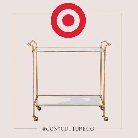 Simple gold bar cart   Target finds   #LTKhome #LTKstyletip