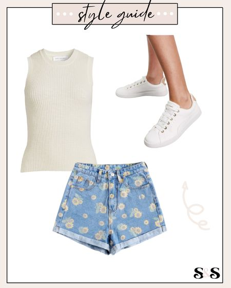 Simple summer outfit idea! Size up in shorts if you prefer a mom style fit (I got the medium & they're perfect w/ a belt)💓  #shorts #romwe #tank #sneakers #summeroutfits #beachvacation #walmart #walmartfinds #disneyoutfits #summerfashion #summer   #LTKunder50 #LTKshoecrush #LTKSeasonal