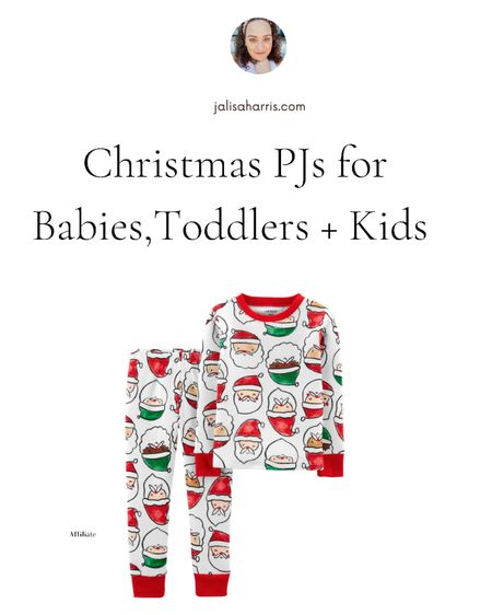 Peep the Christmas pajamas from Carter's for babies, toddlers and kids. #ltkkids #ltkbaby  #LTKGiftGuide #LTKHoliday #LTKfamily