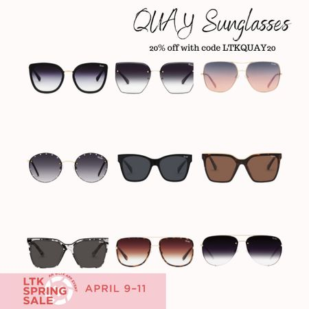 Of course my favorite sunglass retailer is apart of the LTKI spring event this year! Whoohoo! Grab yourself a new pair this weekend. You'll be so happy you did ☺️  #LTKSpringSale #LTKunder50 #LTKSeasonal