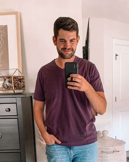 Men's amazon fashion, men's outfits, mens fashion, Abercrombie men, gifts for men, gifts for husband  - V-neck tee: true to size (L) more colors  Jeans: true to size    #LTKunder50 #LTKmens #LTKfamily