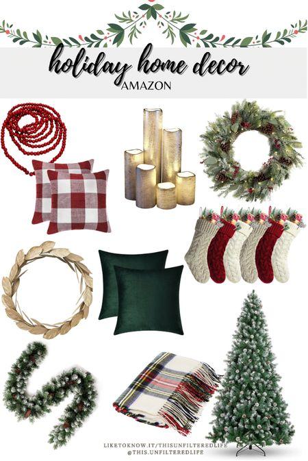 Holiday home decor from Amazon #AmazonPrimes #Amazonhomedecor #ChristmasDecorations   #LTKhome #LTKSeasonal #LTKHoliday