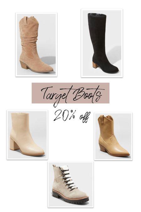 Fall/winter boots 20% off at Target  #LTKSeasonal #LTKshoecrush #LTKsalealert