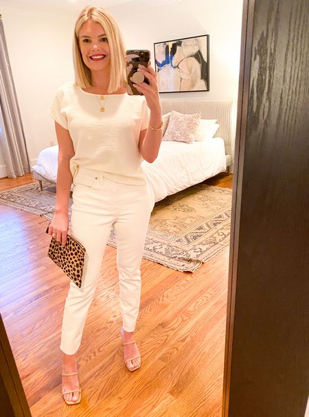 The perks to having a baby: a reason to make your friends visit {to meet said baby and hit the town}. http://liketk.it/3bwHq #liketkit @liketoknow.it Mama got dressed last night, so I have to document. Size down on shirt and jeans!    #LTKSpringSale #LTKshoecrush #LTKstyletip
