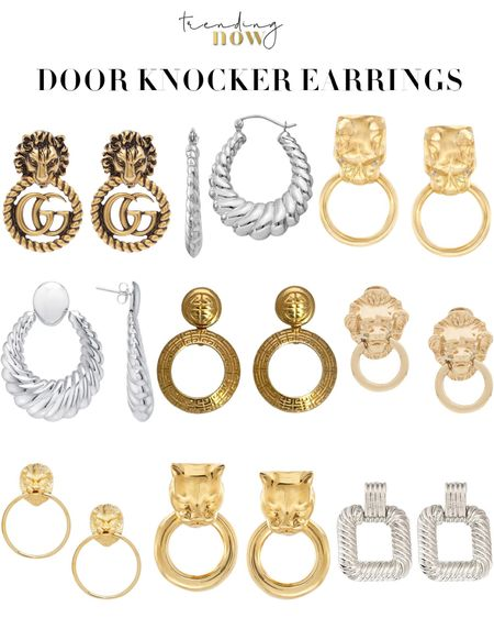 '80s & '90s are back in a big way.  Loving these door knocker earrings, especially the Givenchy & Gucci pairs. 💛💛💛 🦁 http://liketk.it/2UyHi #liketkit @liketoknow.it Shop your screenshot of this pic with the LIKEtoKNOW.it shopping app #LTKspring #StayHomeWithLTK #LTKstyletip